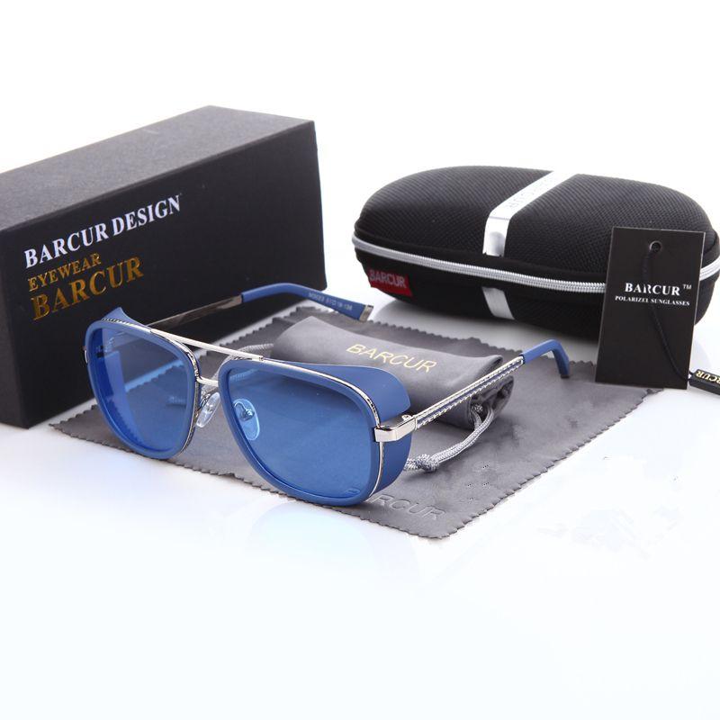Lunettes de soleil tortue IRON MAN 3 Matsuda TONY Steampunk lunettes de soleil homme miroir marron dégradé lunettes de soleil mode