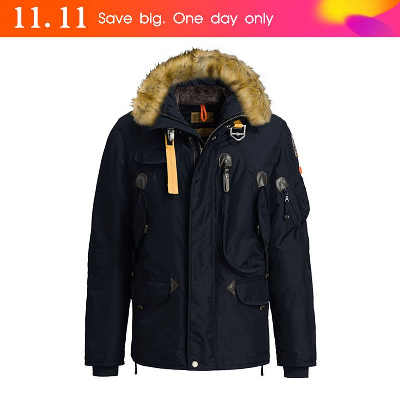 2016 winter warm Hiking Down Jacket Men down middle right hand jumper man jacket winter parka down jacket free shipping