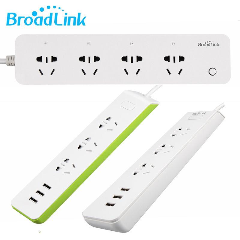 3C Broadlink интеллектуального пульта управления smart разъем Беспроводной Wi-Fi пульт дистанционного таймер полосы plug mp1 Беспроводной Outlet MP2 с 2.1 USB п...