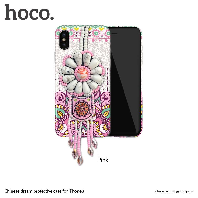HOCO Fashion Exotic Relief Case for Apple Iphone 8 Pendant Decorations Luxury National Wind Originality for Iphone8 Phone Cases