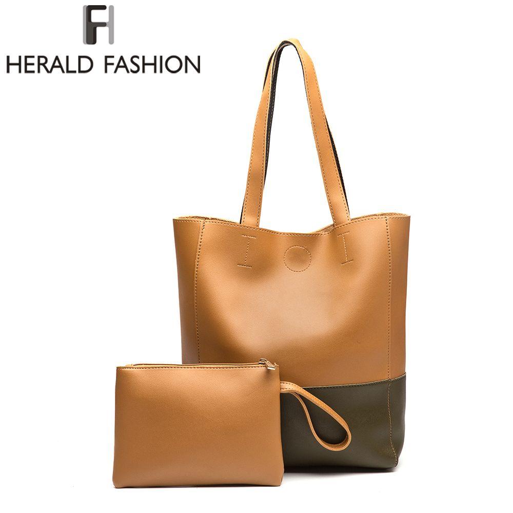 Herald Fashion Luxury Designer Fashion Big Handbags Women Bags Designer Shoulder Bag Female Satchel Bag