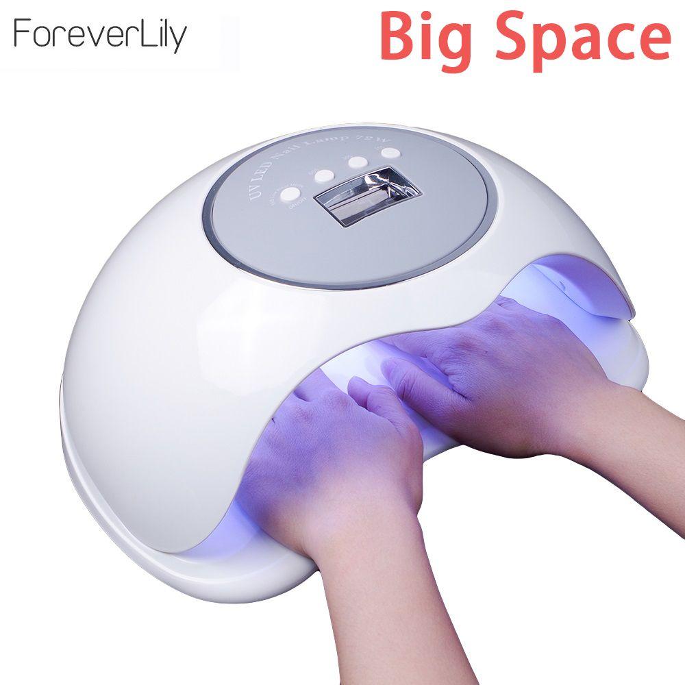 2 Hand Große Raum 72 watt Nagel Trockner für Alle Gele Höchste Power Schnelle Trocknung UV LED Nagel Lampe für gel härtung Polnisch Eis Lampe Für Nagel