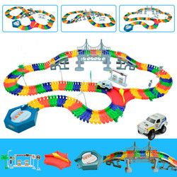 5.5cm rail car toy racing tracks car DIY universal accessories for magic track educational toys children's birthday gifts