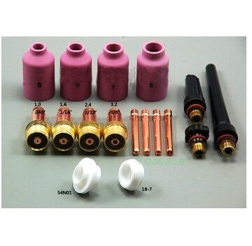 quality products Air plasma cutting supplies tig torch accessories kit Summer Promotion SR PTA DB WP 17 18 26 Series;17Pcs