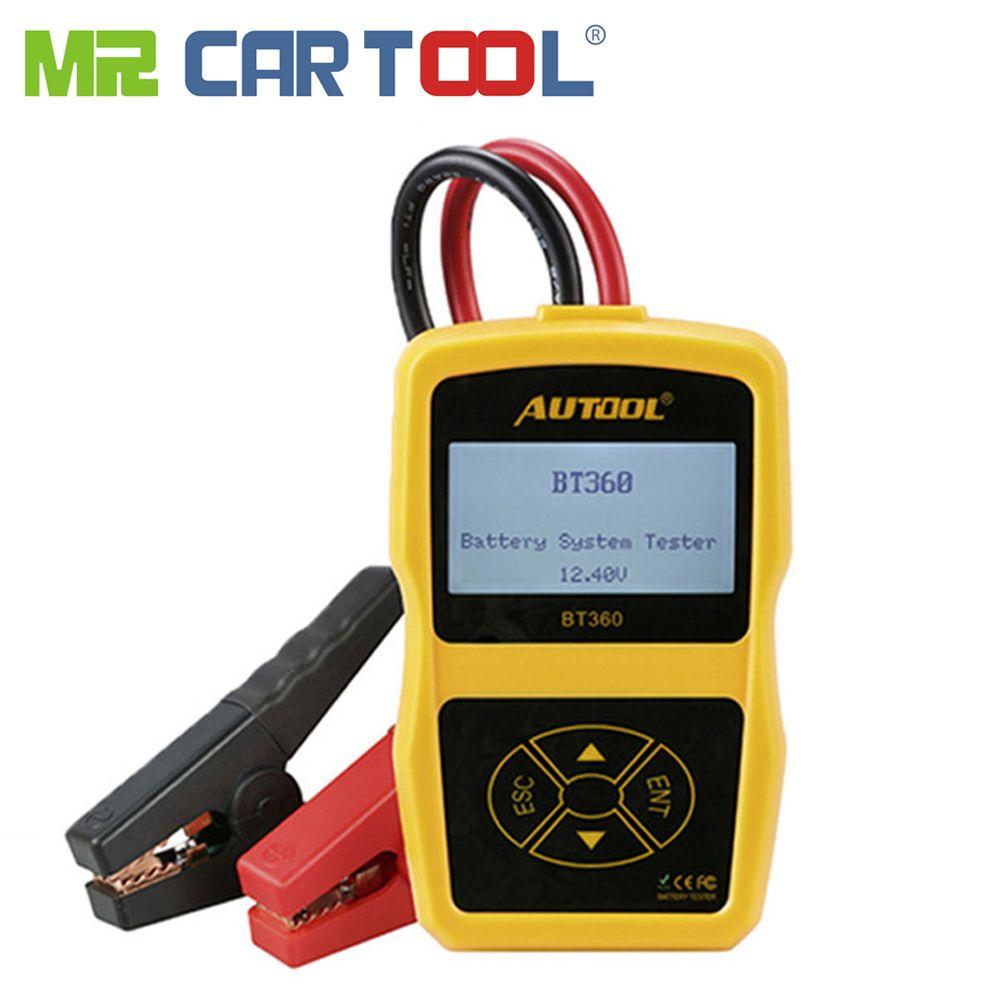 AUTOOL BT360 Car Battery Tester 12V Digital Auto For Flooded AGM GEL BT-360 Automotive Batterys Analyzer CCA Multi-language
