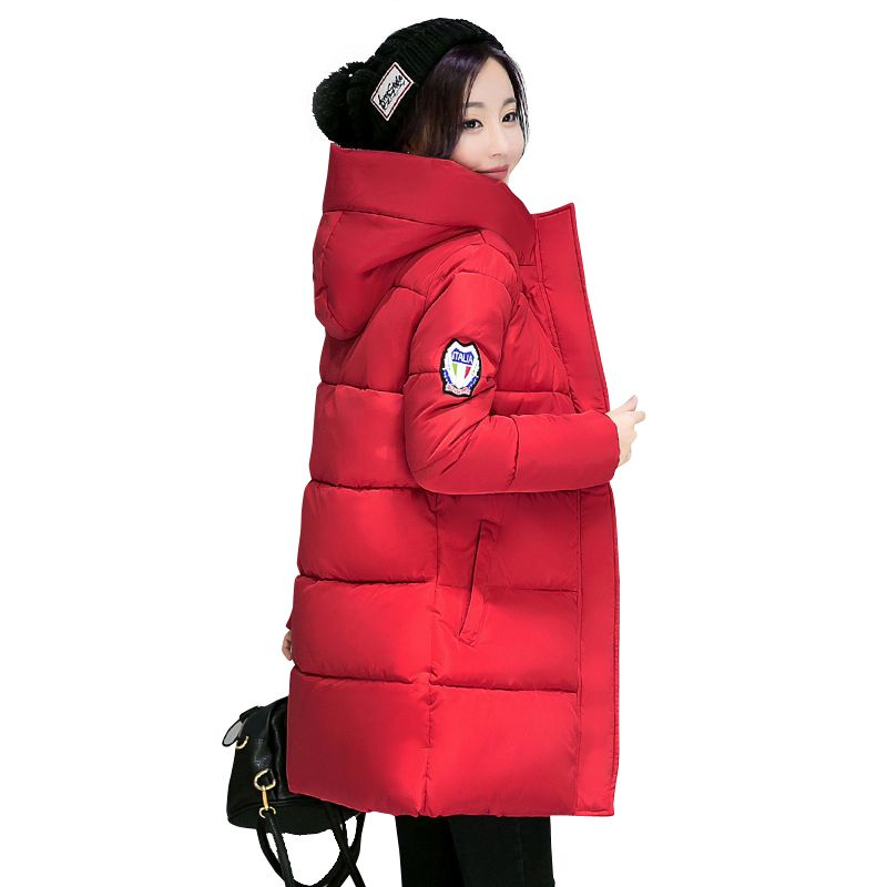2018 hot sale women winter <font><b>hooded</b></font> jacket female outwear cotton plus size 3XL warm coat thicken jaqueta feminina ladies camperas