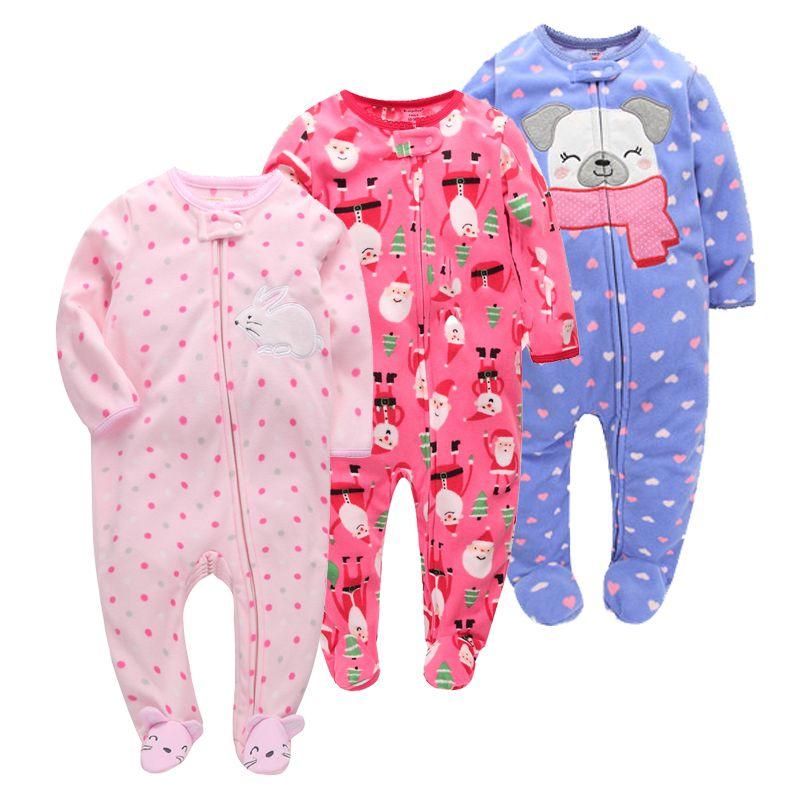 Orangemom noël printemps automne bébé vêtements nouveau-né doux polaire barboteuses 0-24m infantile combinaison bébé dessin animé Costumes pyjamas