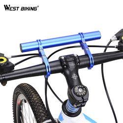 WEST BIKING велосипедный держатель для фонаря удлинитель руля 25,4/31,8 мм рама велосипеда двойной длинная подставка держатель для велосипеда свет