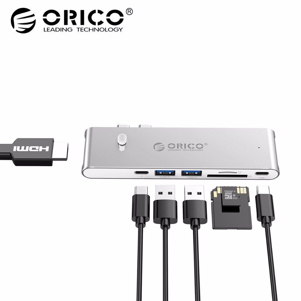 ORICO 9 in 1 USB C HUB Type C To HDMI Thunderbolt 3 TF Micro SD Card Reader For imac For Macbook pro 2015 2016 4K USB 3.0 HUB