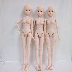 1/4 BJD Boneka boneka Telanjang 45 cm Plastik bersama moveable boneka, tanpa make up lingkar Kepala 17.5 cm