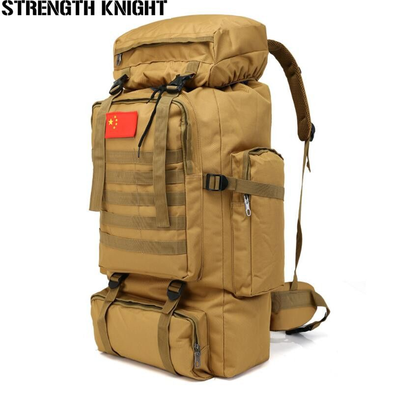 70L Large <font><b>Capacity</b></font> Backpack Waterproof Military Tactics Molle Bag Men Backpack Rucksack for Hike Travel Backpacks