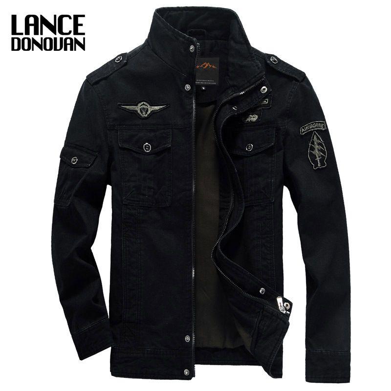 NEW 2017 Mens Green Khaki 3 colors Military jacket winter Cargo Plus size M-XXXL 5XL 6XL Casual man Jackets Army clothes brand