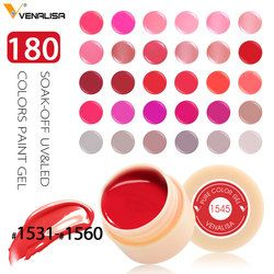 Venalisa CANNI Nail Art Ensemble Peel Off 180 Couleurs Gel Peinture UV/LED Couleur Gel CANNI Vernis À Ongles Gel Laque Paniting Gel D'encre