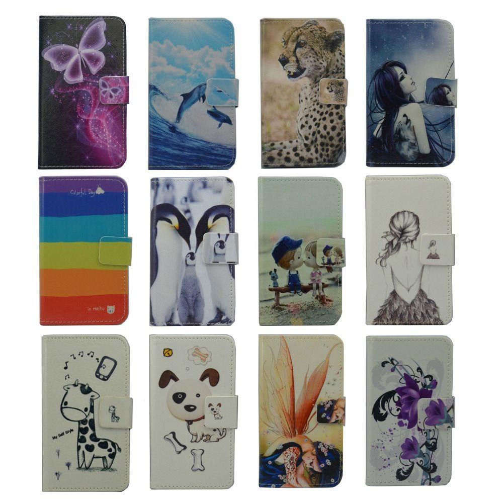 For Prestigio Muze A5 case Wallet Card slot deluxe PU leather cartoon cute Cover + mini stylus