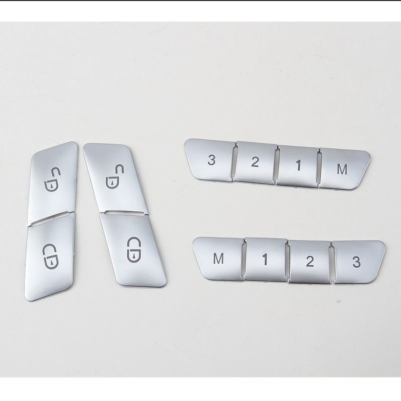 Car Styling Car chrome Door Lock Unlock Switch Stickers Seat Adjust Switch Cover For Mercedes GLK GLA CLA ML W166 GL X166 W204