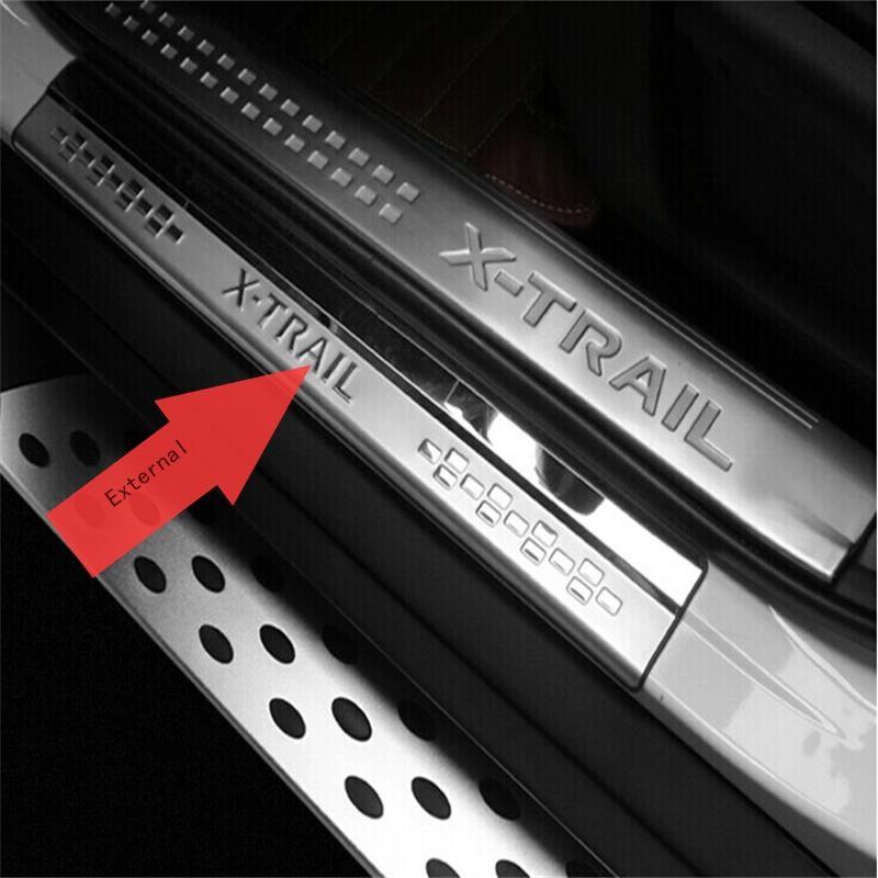 Fit Für 2014 2015 2016 2017 Nissan X-trail X Trail XTrail T32 Türschwellenverschleißplatten Willkommen Pedal Trim Car Styling Zubehör