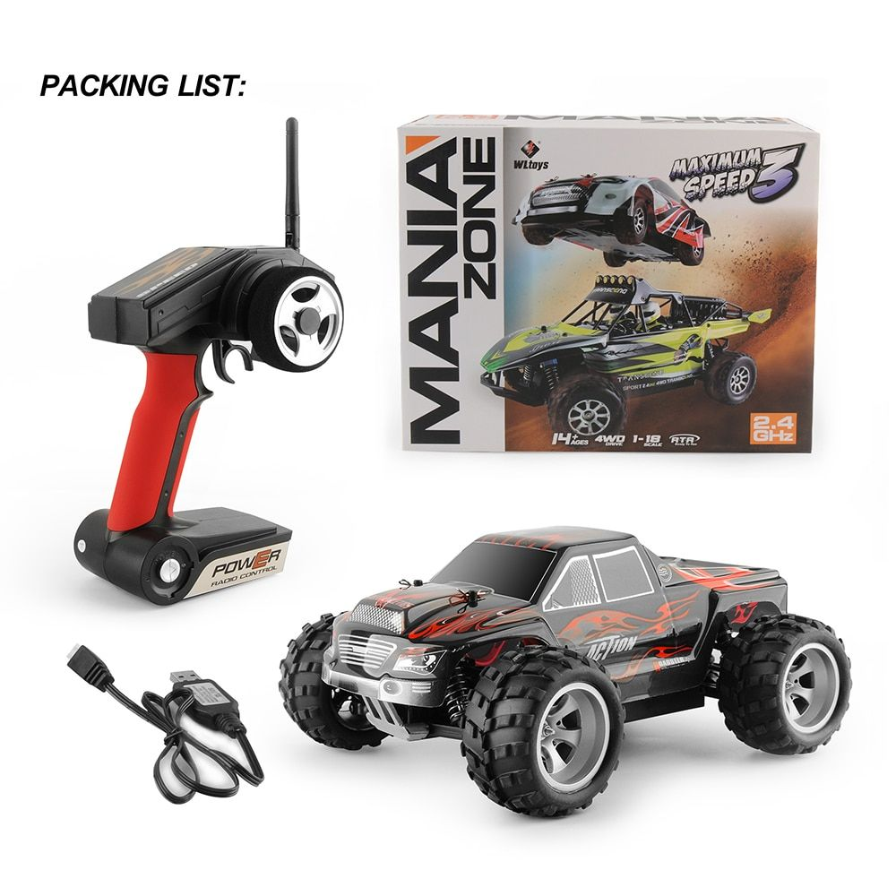 GizmoVine RC CAR Wltoys A979 1/18 2.4GHz 4WD Monster Rc Racing Car Remote Control Cars Radio-controlled Cars Machine Kids Toys