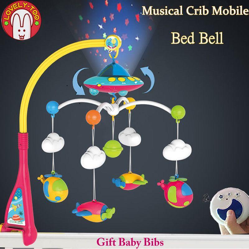Lovelytoo Игрушки для маленьких детей кровать колокол 0-12 месяцев животных Музыкальные кроватки Mobile висит Погремушки для новорожденных раннего ...