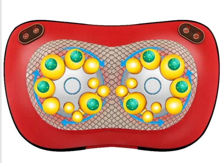 Oreiller de Massage vertèbre cervicale masseur cou taille dos épaule appareil de Massage infrarouge chauffage Instrument de soins de santé