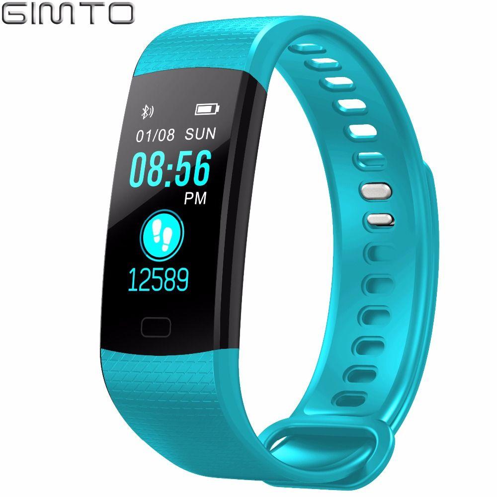 GIMTO Sport Bracelet Watch Women Men LED Waterproof Smart Wrist Band Heart rate Blood Pressure <font><b>Pedometer</b></font> Clock For Android iOS