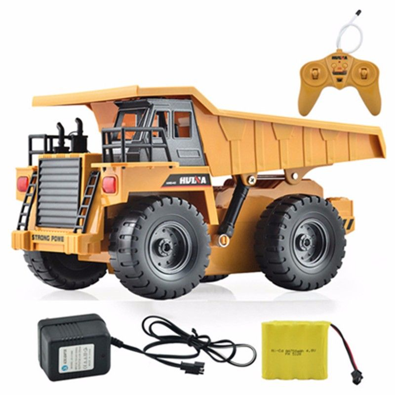 HuiNa Toys 1540 Six Channel 6CH 1/12 40HMZ RC Metal Dump Truck Remote Control Toys RTR With Charging Battery