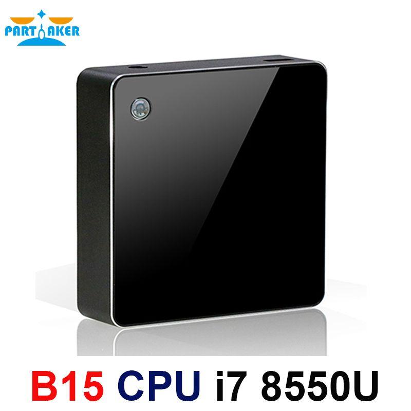 Teilhaftig 8th Generation Intel Core i7 Prozessoren i7 8550u Mini PC Windows 10 HDMI DP HTPC Grafiken Max zu 32 GB ram 512 GB SSD