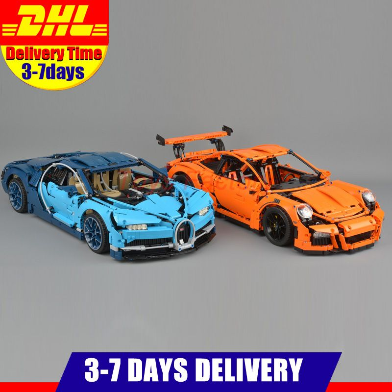 2018 DHL LEPIN 20001 20001B 20086 Technic Series Race Car Model Building Kits Blocks Bricks Toy Compatible With 42083 42056