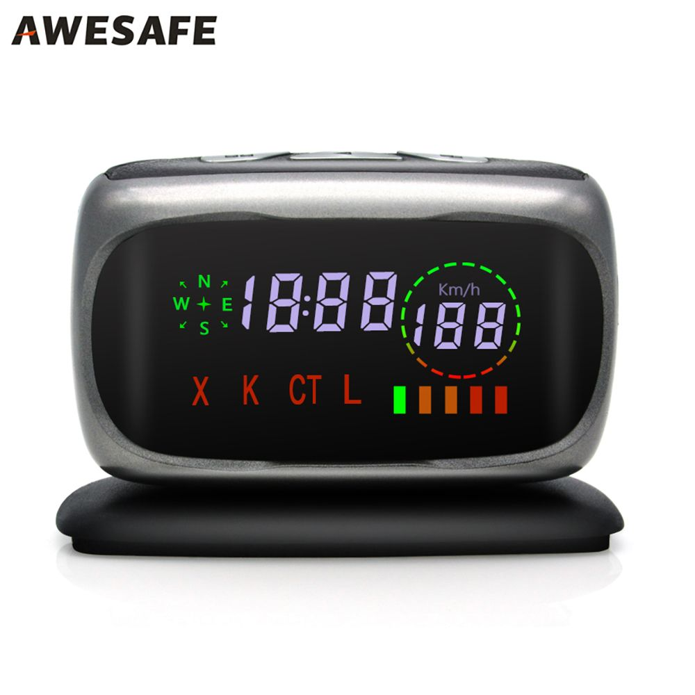 AWESAFE  Car Anti Radar Detector Center Console mini Radar Detector For Russia X/K/CT/L 360 Degree Laser Detection with Russia