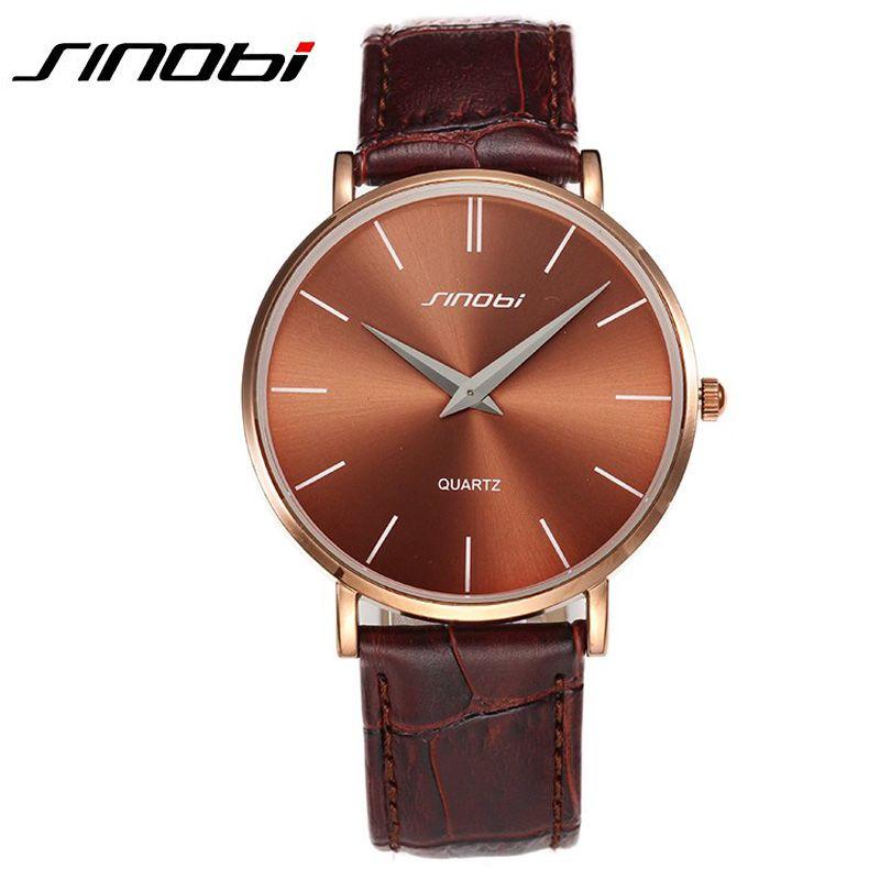 SINOBI montre hommes étanche antichoc Quartz Ultra mince montres pour hommes Relogio Masculino hommes montres Top marque de luxe