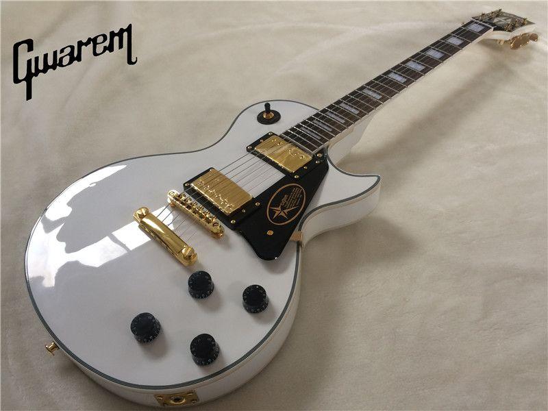 Electric guitar Gwarem lp custom white color guitar/guitar in china