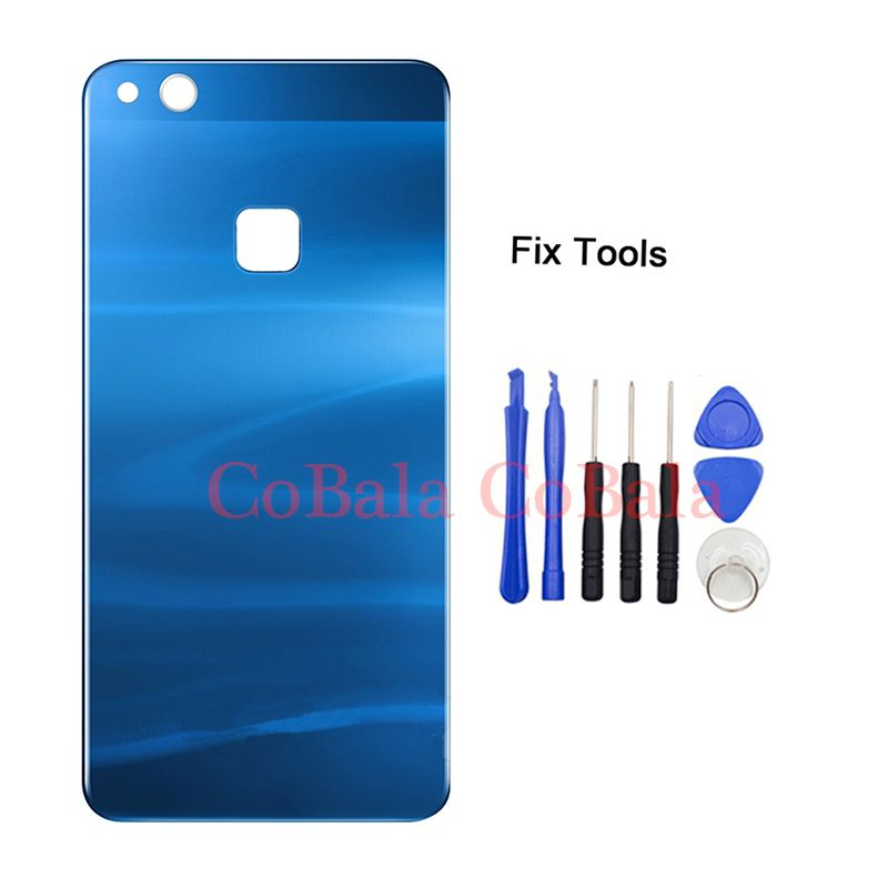LOVAIN 1Pcs Genunie Original For Huawei P10 lite Back Battery Cover Glass Housing+Adhesive Sticker Repair Replacement With Tool