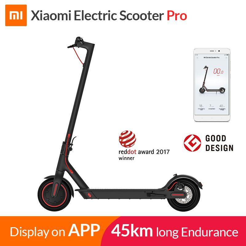 2019 Xiao mi mi Elektrische Roller mi jia M365 Pro Smart E Roller Skateboard mi ni Faltbare Hoverboard Longboard Erwachsene 45 km Batterie