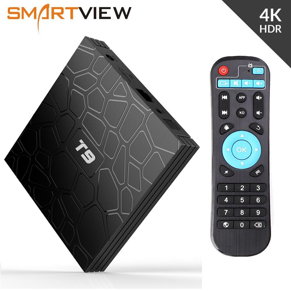 Android 8.1 Smart TV Box VONTAR T9 4GB RAM 32GB/64GB ROM Rockchip RK3328 H.265 4K Optional 2.4G/5Ghz Dual WIFI TVbox pk Mi S X96