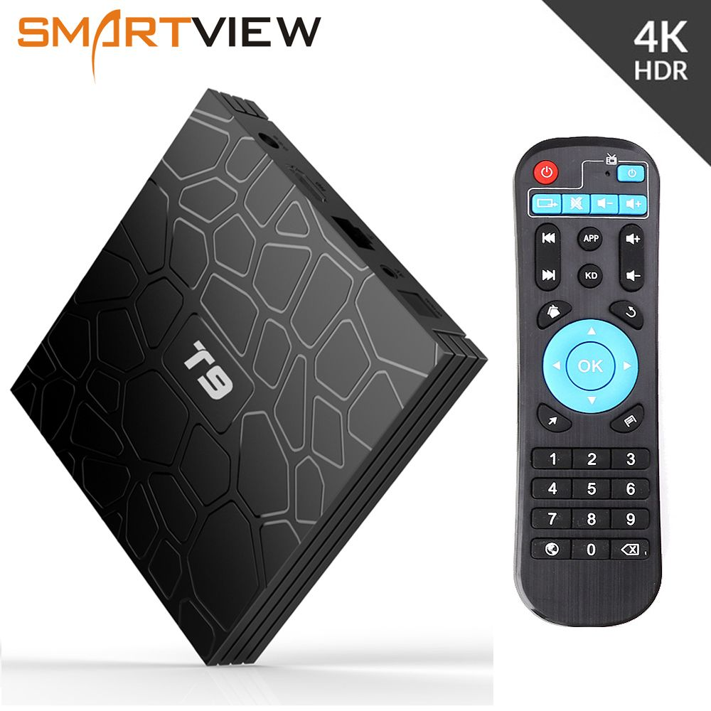 Android 8.1 TV Box VONTAR T9 4GB RAM 32GB/64GB Rockchip RK3328 1080P H.265 4K Google Player Store Youtube TVBOX pk Mi S