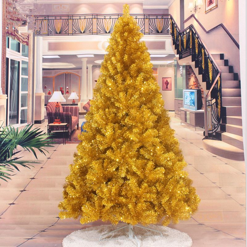 First Christmas Factory Direct 2.1 M / 2.4M gold Christmas tree decorated Christmas tree decorations gift