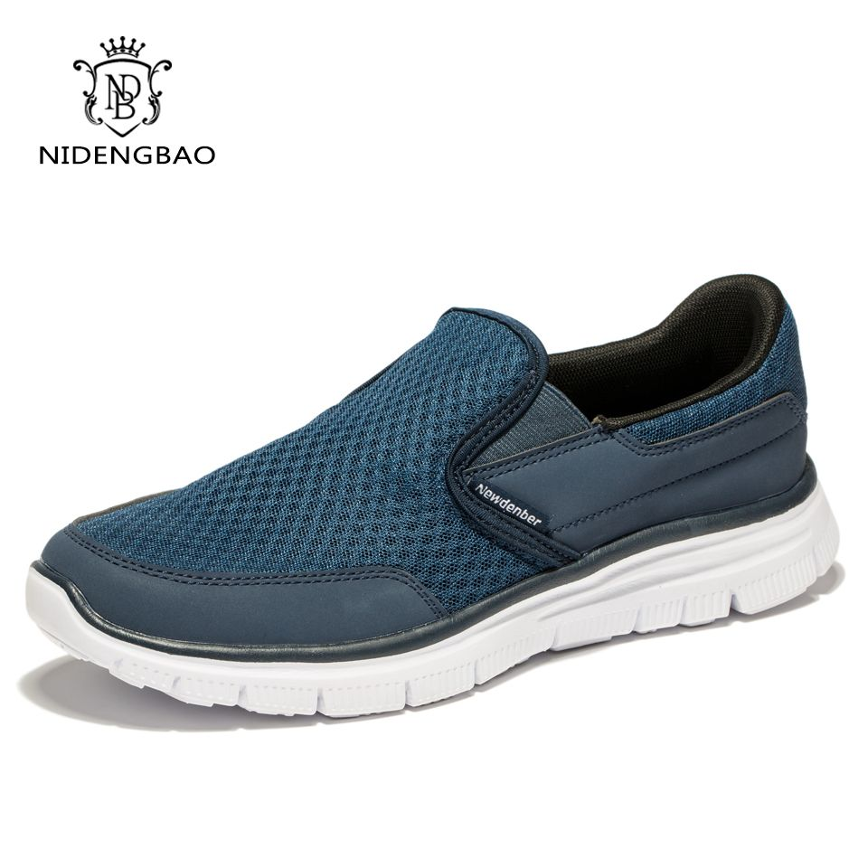 Haute qualité été hommes chaussures décontractées Air Mesh respirant chaussures plates pour hommes chaussures de marche confortables Plus grande taille 47 48