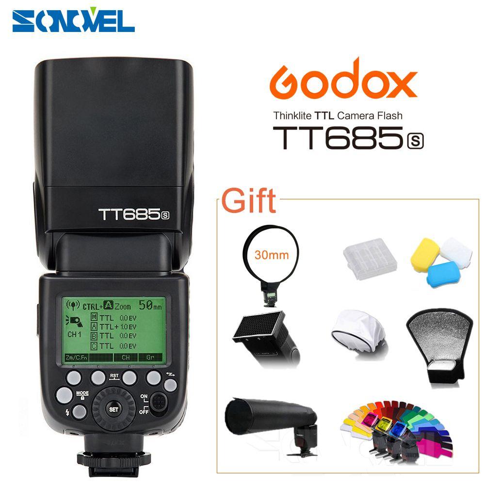 Godox TT685S GN60 TTL Blitzlicht Speedlite 230 Volle Leistung Auto/Manuelle Zoomlinse für Sony DSLR Kameras A77II A7RII A7R A6500 A6300