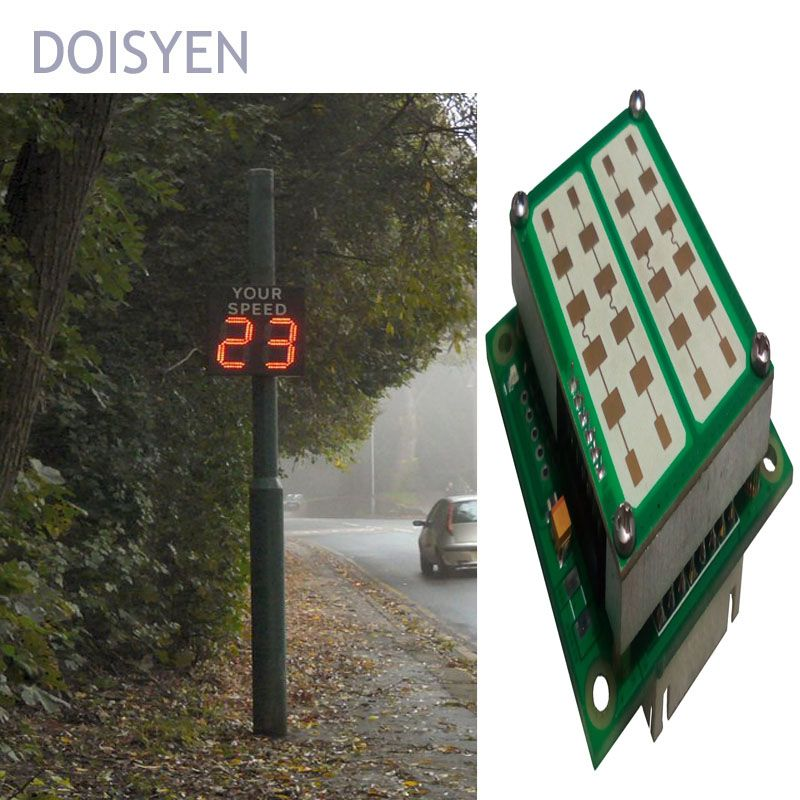 led speed warning signs radar speed measurement fsk moving sensor
