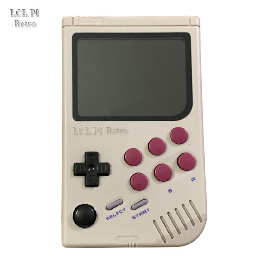 LCL-Pi Retro Raspberry Pi für gameboy handheld spielkonsole mit Super IPS/Schock joystick/junge pi 3B/B + 64G Klassische farbe