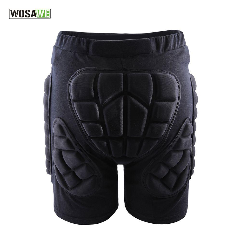 WOSAWE Sports Gear Short Protective Hip Butt Pad Ski Skate Skateboard Snowboard Protection <font><b>Drop</b></font> Resistance Roller Padded Shorts