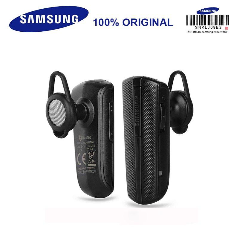 SAMSUNG HM1200 écouteurs sans fil avec Microphone noir dans l'oreille casque d'affaires Bluetooth 3.0 prennent en charge les appels téléphoniques