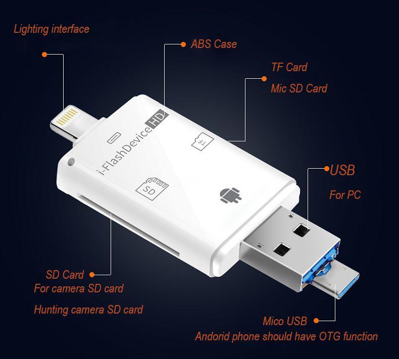 Trail Камера просмотра для Apple Iphone и iPad, просматривать фотографии и видео из дикой природы Скаутинг игры Cam на смартфон SD карты памяти