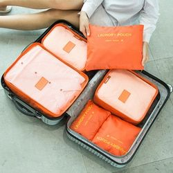 Urijk 6PCs/Set Travel Storage Bag Clothes Tidy Pouch Luggage Organizer Portable Container Waterproof Storage Case Drop Shipping