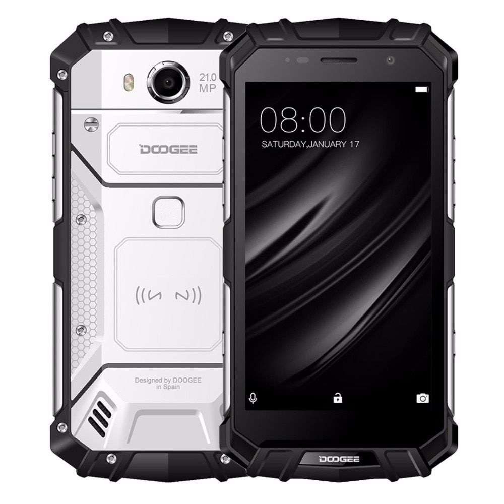 DOOGEE S60 IP68 Wireless Charge 5580mAh 12V/2A Quick Charge 5.2'' FHD Helio P25 Octa Core 6GB 64GB 21.0MP Camera Smartphone