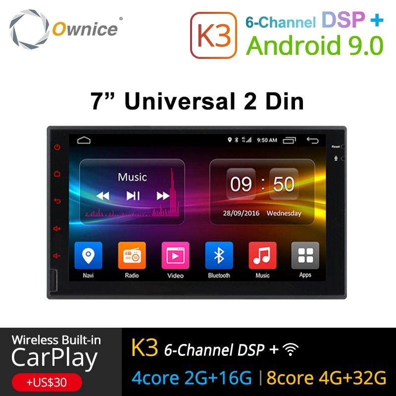 Ownice K1 K2 K3 Octa 8 Core Android 2G RAM 32 GB ROM Support 4G LTE SIM réseau voiture GPS 2 din universel autoradio lecteur dvd