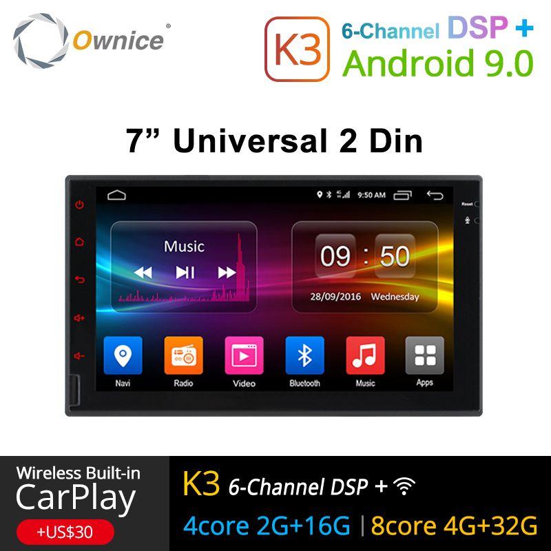 Ownice K1 K2 K3 Octa 8 Core Android 2G RAM 32 GB ROM Support 4G LTE SIM réseau voiture GPS 2 din universel autoradio lecteur dvd