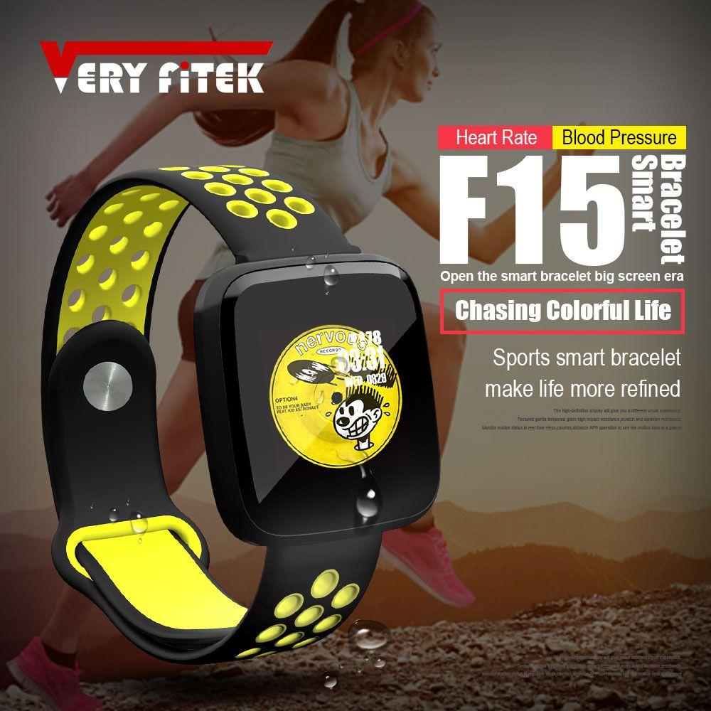 VERYFiTEK F15 Smart Wristband Watch Blood Pressure Oxygen Customize Watch Dial Fitness Tracker Heart Rate Monitor Smart Bracelet