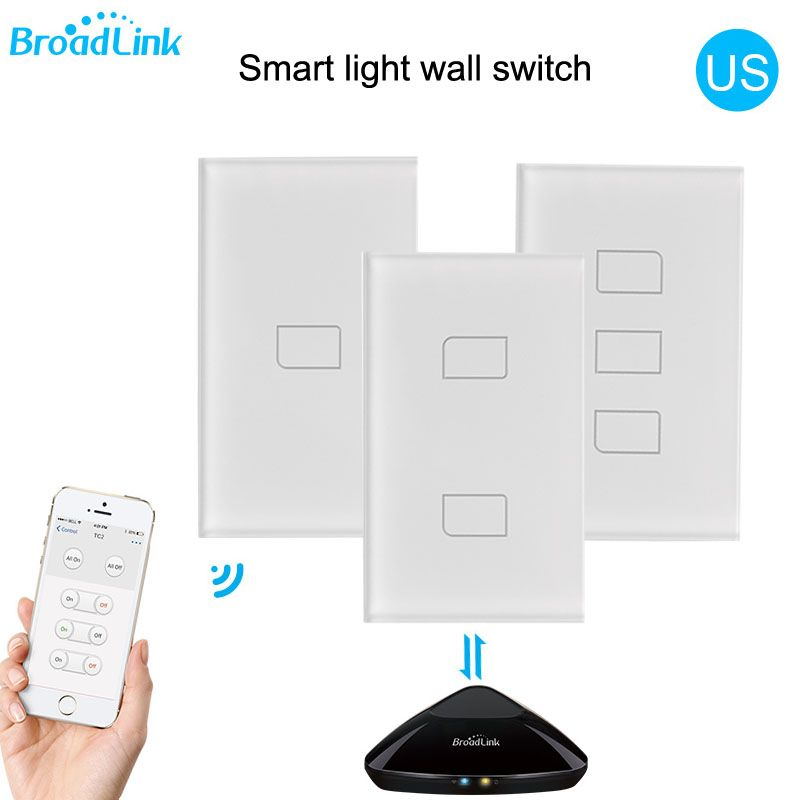 2018 Broadlink TC2 US/AU version 1 2 3 Gang WiFi Home <font><b>Automation</b></font> Smart Remote Control Led Light Switche Touch Panel via RM Pro+