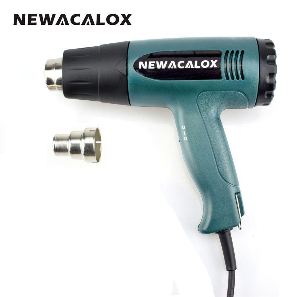NEWACALOX 1800 Watt 220 V Eu-stecker Industrielle Elektrische Heißluftpistole Heißluftpistole Kit Professionelle Heatguns Schrumpffolie Gebläse heizung