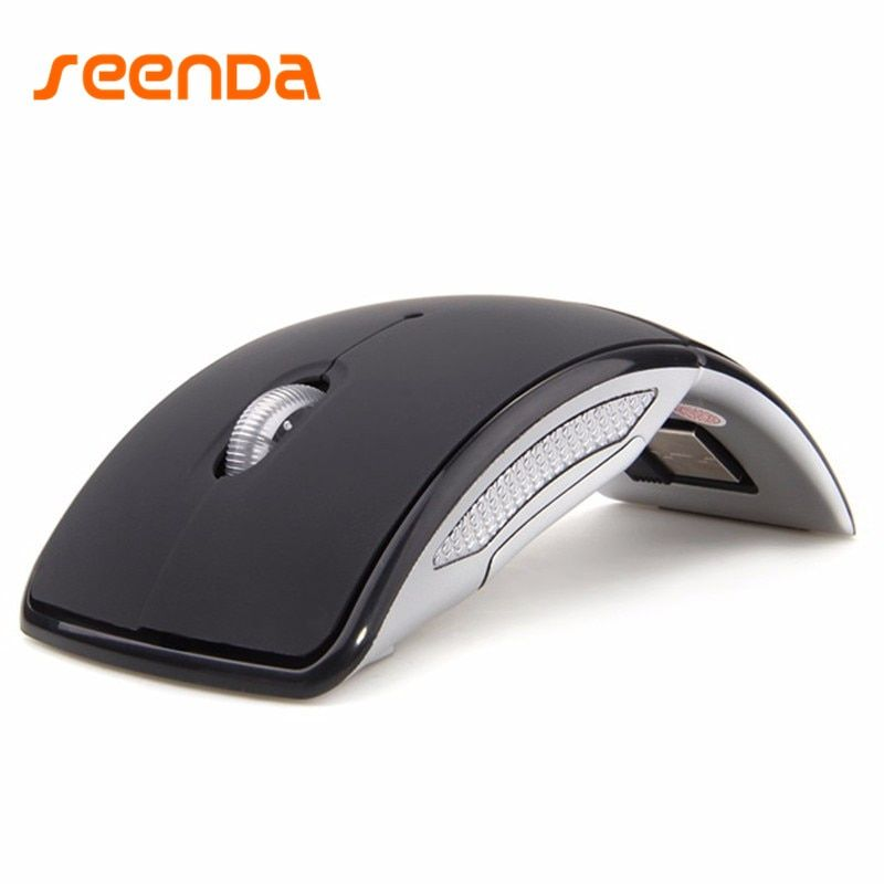 Hot Sale Wireless Mouse 2.4G Computer Mouse Foldable Travel Mouse Folding Mini Mice USB Receiver for Laptop PC Computer Desktop